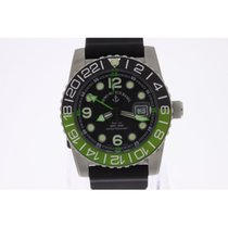 Zeno-Watch Basel Airplane Diver GMT Automatic green NEW