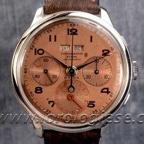 Chronographe Suisse Cie Dato-compax Bezel-set Triple Caelndar...