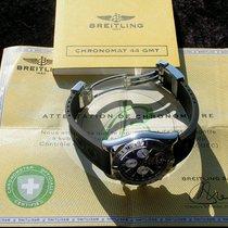 Breitling CHRONOMAT 44 GMT AB0420 SCHWARZES ZB NP 8.160 EURO