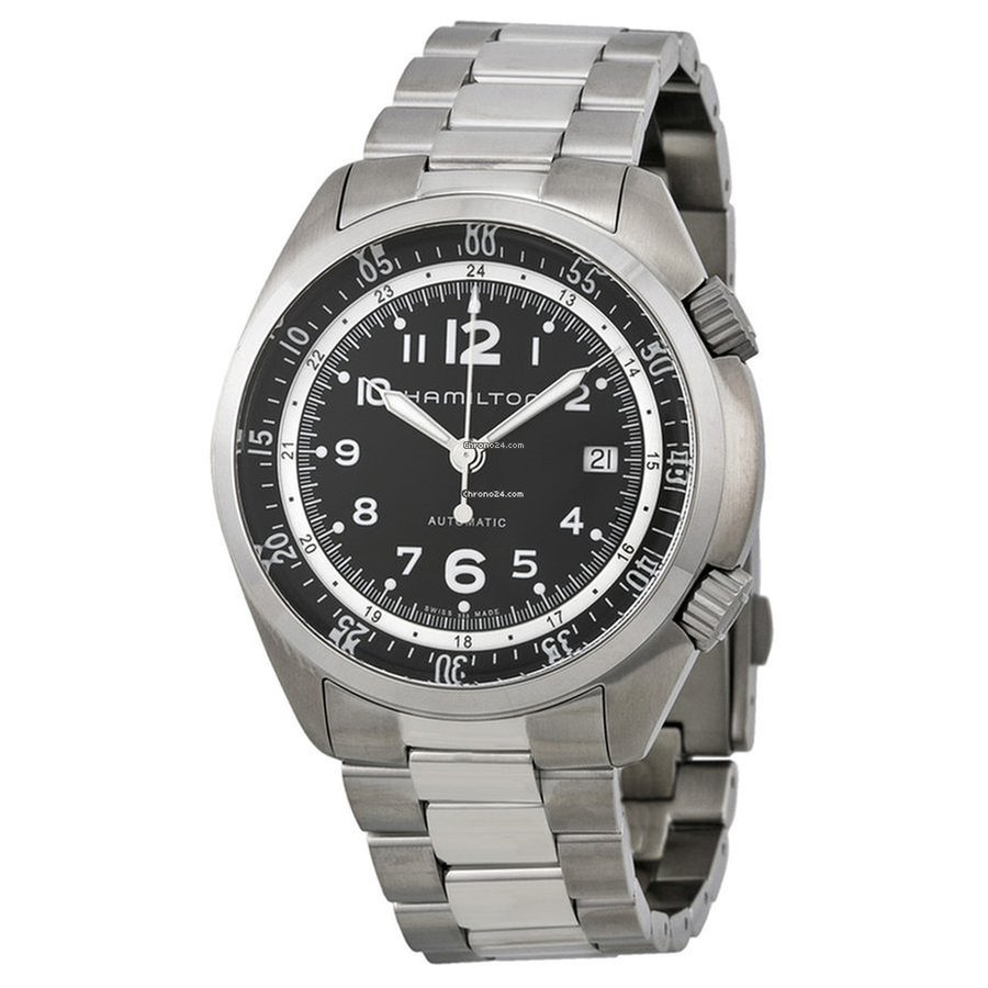 8fa05cb1e Hamilton Men's H76455133 Khaki Aviation Pilot Pioneer Auto Watch for $837  for sale from a Trusted Seller on Chrono24