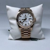 Rolex Day-Date President 228235 18k Rose Gold White Dial