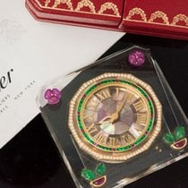Cartier Paris Very Rare 30 Carat Ruby Emerald Diamond Pearl Clock