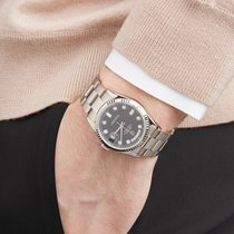 Rolex Day-Date 36 tweedehands 36mm Zwart Witgoud