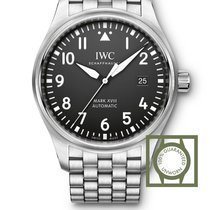 IWC Pilot's Watch Mark XVIII Automatic Steel Black Dial Steel...