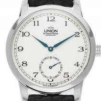 Union Glashütte 39mm Handaufzug gebraucht Silber