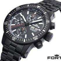 Fortis B-42 Monolith Steel 42mm Black No numerals