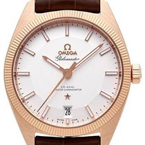 Omega Rose gold Automatic Silver 39mm new Globemaster