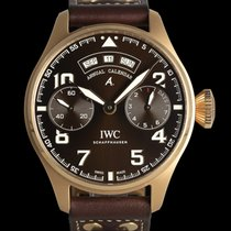 IWC Red gold Automatic Brown 46mm pre-owned Big Pilot