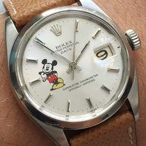 Rolex Steel 35mm Automatic 1500 DATE DATEJUST VINTAGE AUTOMATIC AUTOMATIK MICKEY MOUSE pre-owned