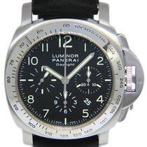 Panerai Luminor Chrono pre-owned 44mm Black Date Leather