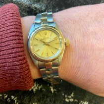 Rolex Oyster Perpetual 26 Goud/Staal 25mm Champagne Geen cijfers Nederland, Amsterdam