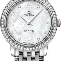 Omega De Ville Prestige Oro blanco 24.4mm Madreperla Árabes