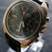 Roamer Chronograph 44mm Manual winding 1990 pre-owned Black