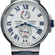 Ulysse Nardin Marine Chronometer Manufacture Steel White United States of America, New York, Brooklyn