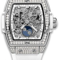 Hublot Spirit Of Big Bang Moonphase Titanium White Pavé