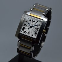 Cartier Tank Francaise XL Automatic Date Gold Steel FULL SET MINT