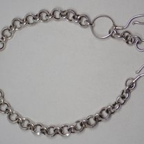 """Victorian Sterling Silver Pocket Watch Chain 15"""""""