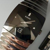 Rado nuevo Cuarzo Segundero central Con piedras preciosas y diamantes 34mm Cerámica Cristal de zafiro