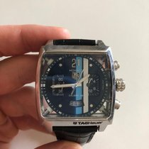 TAG Heuer Chronograph 40.5mm Automatic pre-owned Monaco Calibre 36 Blue