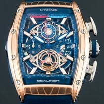 Cvstos Red gold Automatic Blue 59mm new Challenge