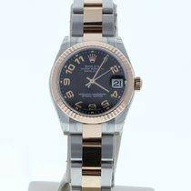 Rolex Lady-Datejust Золото/Cталь 31mm Чёрный