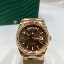 Rolex Day-Date 40 Or rouge 40mm Brun