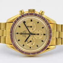 Omega Yellow gold Manual winding Gold (solid) No numerals 42mm pre-owned Speedmaster Professional Moonwatch