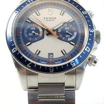 Tudor Heritage Chrono Blue Acier 42mm Bleu Sans chiffres