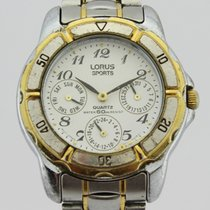 Lorus Steel Quartz White Arabic numerals 33mm pre-owned