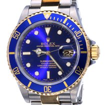 Rolex Oyster Submariner Gold Steel Blue Dial 40 mm (2000)