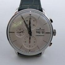 Junghans Meister Chronoscope Otel 40.7mm Alb Fara cifre
