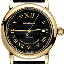 Montblanc Yellow gold Automatic Black Roman numerals 40mm new Star