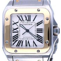 Cartier Santos 100 Goud/Staal 52mm Wit Romeins Nederland, Katwijk aan zee