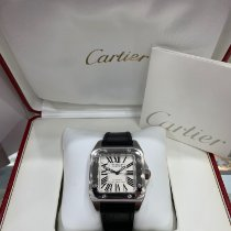 Cartier Santos 100 pre-owned 38mm White Crocodile skin