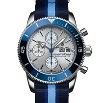 Breitling Superocean Héritage II Chronographe Steel 44mm Grey No numerals United States of America, New York, New York