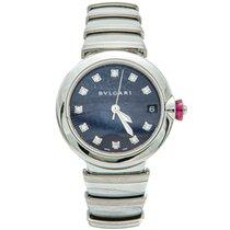 Bulgari Steel Automatic Bvlgari Navy Blue Lvcea Diamond Women's Watch new UAE, DUBAI