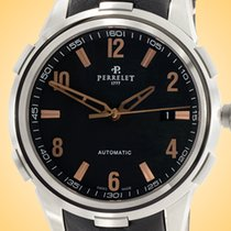 Perrelet Class-T Steel 42mm Black Arabic numerals