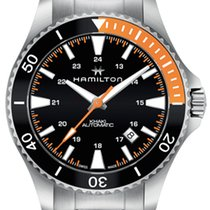 Hamilton H82305131 Steel 2019 Khaki Navy Scuba 40mm new
