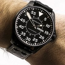 Hamilton Khaki Pilot H64785835 Hamilton AUTO PILOT Tutto Nero 46mm new