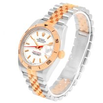 Rolex Turnograph Datejust Steel Rose Gold Watch 116261 Box Papers
