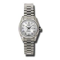 Rolex Lady-Datejust Witgoud 26mm Zilver