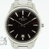 Zenith Captain Central Second pre-owned 40.5mm Black Date Steel
