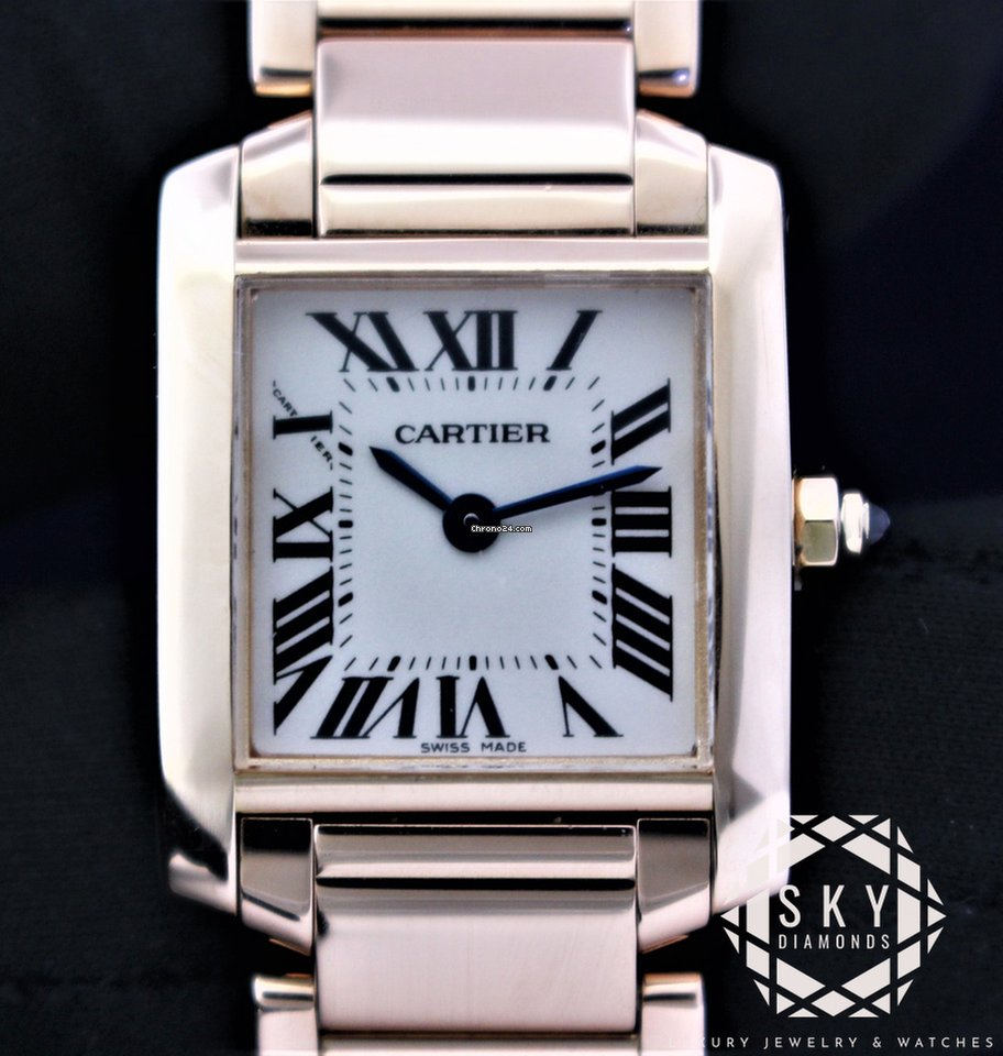 25aab218355 Cartier Tank Francaise Rose Gold 2793 W500264H Womens Watch 18... za ...