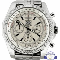 Breitling Bentley 6.75 pre-owned 48.7mm Silver Chronograph Date Steel
