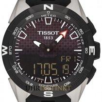 Tissot Titan Chronograph Schwarz 45mm neu T-Touch Expert Solar