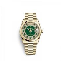 Rolex Day-Date 36 Gelbgold 36mm Grün