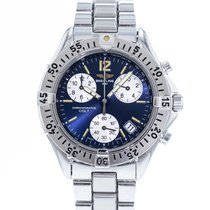 Breitling Colt Chronograph pre-owned 38mm Blue Date Steel