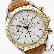 Omega Speedmaster Reduced rabljen 39mm Bjel Kronograf Datum, nadnevak Koza