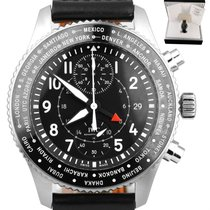 IWC Pilot Chronograph pre-owned 45mm Black Chronograph Steel