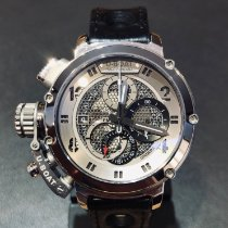 U-Boat Chimera pre-owned 46mm Silver Chronograph Date Leather